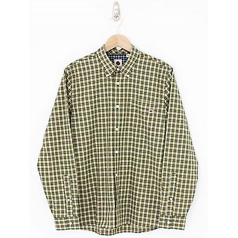 Pretty Green Classic Fit Check Shirt - Khaki