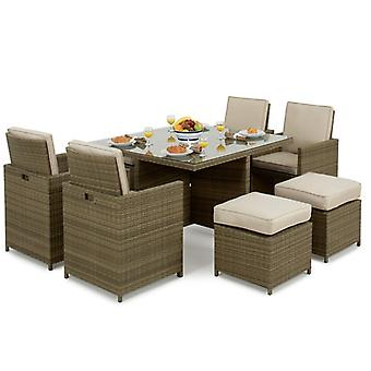 Maze Rattan Tuscany 5 Piece Cube Garden Furniture Set