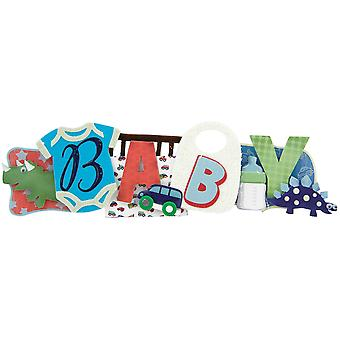 Baby Boy Stacked Statement Sticker 2.5