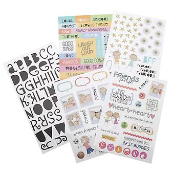 Glitter Stickers Value Pack A Kid Like Me Friends For Life 162 Pkg Gvp 19