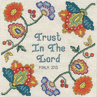 Trust Counted Cross Stitch Kit-10