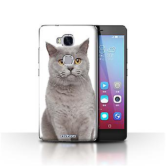 STUFF4 Case/Cover for Huawei Honor 5X/GR5/British Blue/Cat Breeds