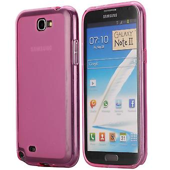 Soft TPU rubber cover for Samsung Galaxy Note 2 (Pink)