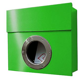 RADIUS Letterman 1 letterbox green with porthole - 506 b