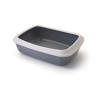 IRIZ chat bac à litière avec rebord Cool 42x31x12.5cm gris (paquet de 6)
