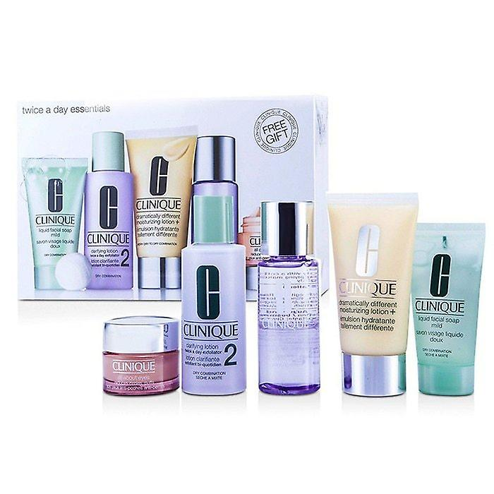 Clinique Exclusive Set: DDLM Plus 50ml + All About Eyes 15ml + Liquid Soap 30ml + Clarifying Lotion #2 60ml + Makeup Remover 50ml 5pcs