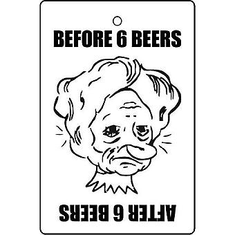 Before And After 6 Beers Car Air Freshener