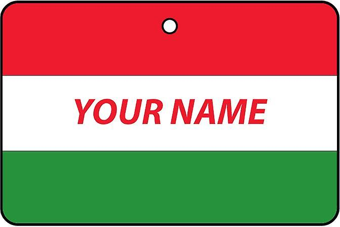 Hungary Flag Personalised Car Air Freshener