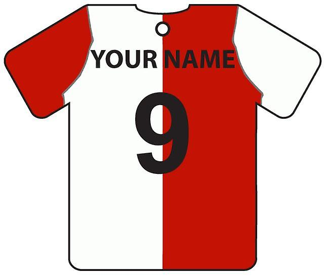 Personalised Feyenoord Football Shirt Car Air Freshener