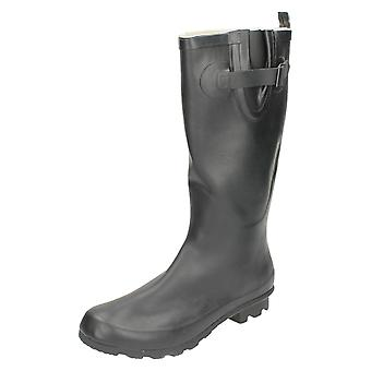 Womens Spot On Flat Wellington Boots X1169