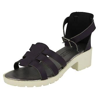 Girls Spot On Bucke Strap Sandals