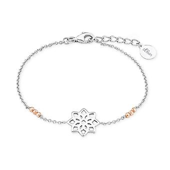 s.Oliver Jewel Damen Armband Silber Bicolor SO PURE Blume 2017218