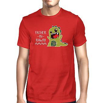 Ojciec w Rawr Funny T-Shirt prezenty dla tata męska Graphic Tee bawełny