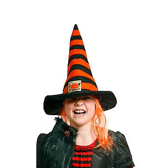 Witch Hat barn witch Hat oransje svart Halloween horror