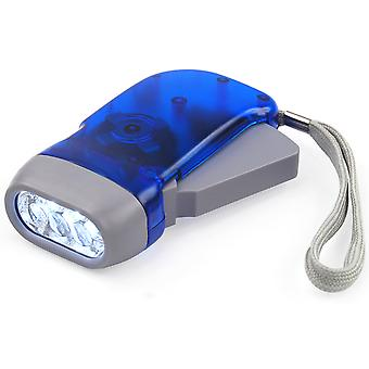 DIGIFLEX Hand Press No Battery Wind Crank 3 Led Flashlight Torch for Survival Camping