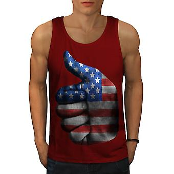 Like Yes Flag America USA Men Red Tank Top | Wellcoda
