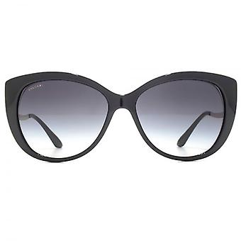 Bvlgari Edge Detail Cateye Sunglasses In Black