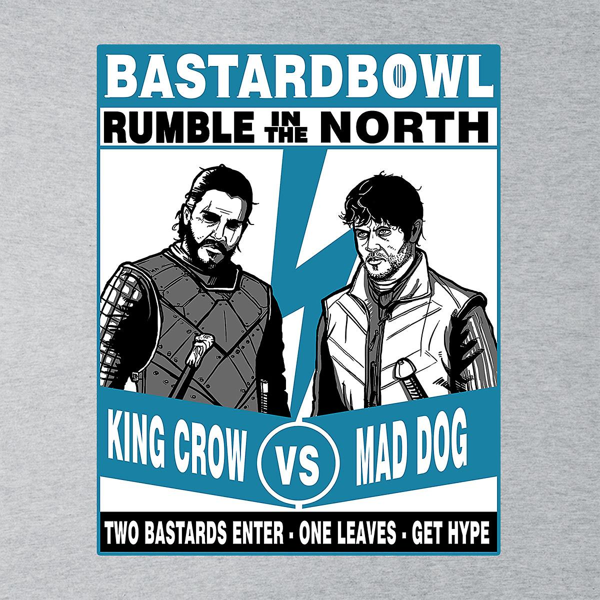 Rumble In The North King Crow Vs Mad Dog Game Of Thrones Men's Hooded Sweatshirt