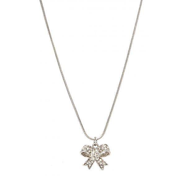 W.A.T Sparkling Crystal Flower Bow Pendant