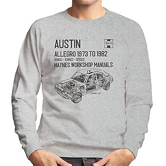 Haynes Workshop Manual 0164 Austin Allegro Black Men's Sweatshirt