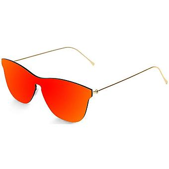 Ocean Genova Flat Lense Sunglasses - Red