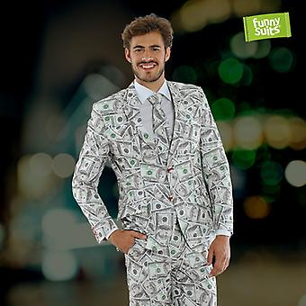 Aristocracy cashing dollar suit suit 3-piece costume deluxe EU SIZES