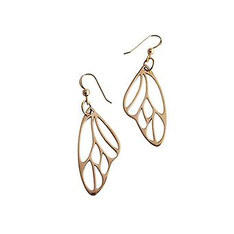 Butterfly wing earrings gilded bronze Butterfly