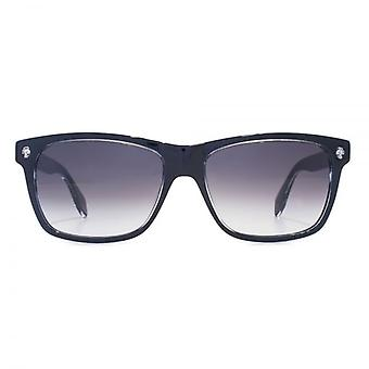 Alexander McQueen Ghost Skull Square Sunglasses In Black