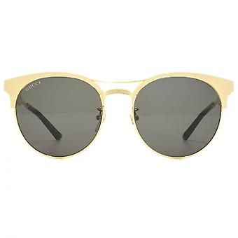 Browline-Sonnenbrille Gucci Metall In Gold