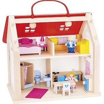 Goki Suitcase Doll's house with accessories