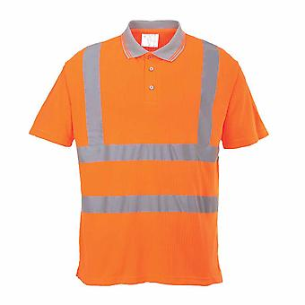 Portwest - Hi-Vis Safety Ribbed Polo Shirt