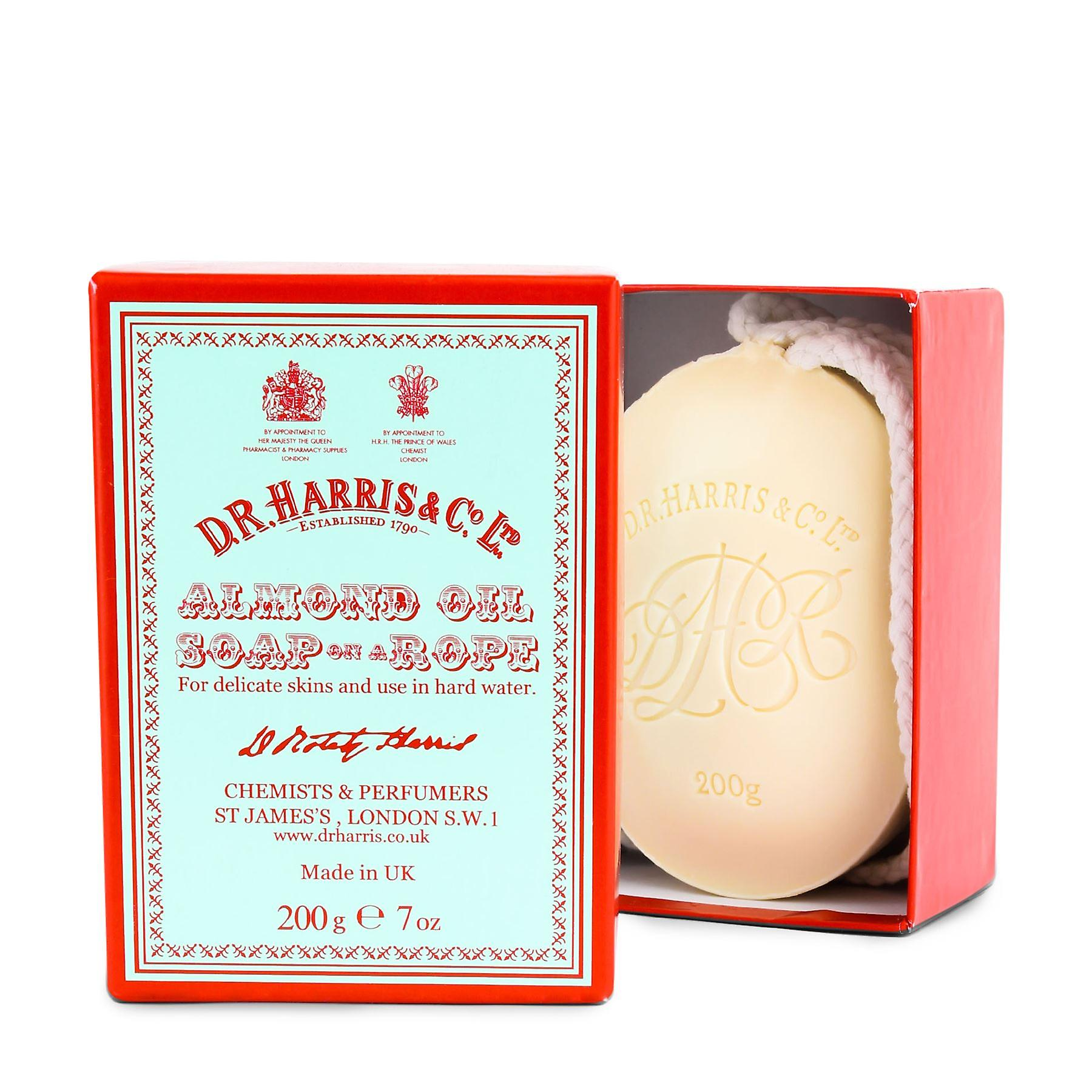 D R Harris Almond Oil Soap on a Rope 200g