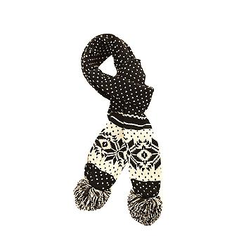 Ladies/Womens Fairisle Winter Knit Scarf