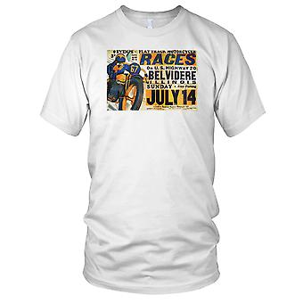 Flat Track Motorcycle Racers Classic Poster Kids T Shirt