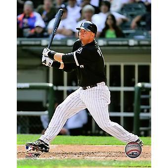 AJ Pierzynski - 2009 Batting Action Photo Print