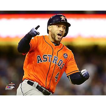 George Springer Home Run Game 7 of the 2017 World Series Photo Print