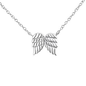 Wing - 925 Sterling Silver Plain Necklaces - W20020x