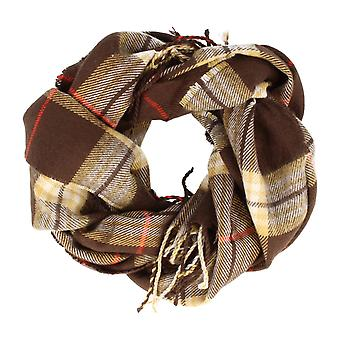 Frédéric Thomass scarf Herrenschal grotesque Plaid Brown checkered