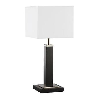 Searchlight 8877BR Waverley Modern Brown Wood Small Table Lamp