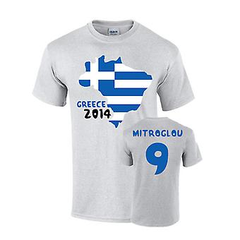 Greece 2014 Country Flag T-shirt (mitroglou 9)
