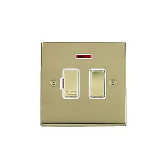 Hamilton Litestat Cheriton Victorian Polished Brass 13A DP Fused Spur+N PB/WH