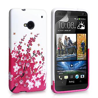 HTC One Floral Bee Silicone Gel Case