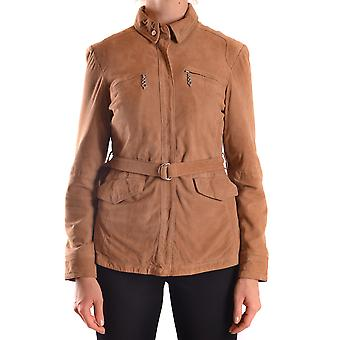 Water Negra women's MCBI118062O brown suede leather jacket
