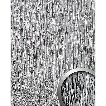 Wall cladding used look WallFace 19346 CRASHED MIRROR decor Panel embossed in metal optics glossy self-adhesive silver 2.6 m2