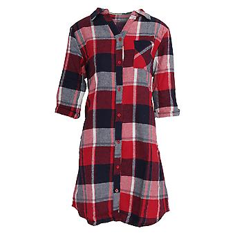 Foxbury Womens/Ladies Yarn Dyed Check Night Shirt