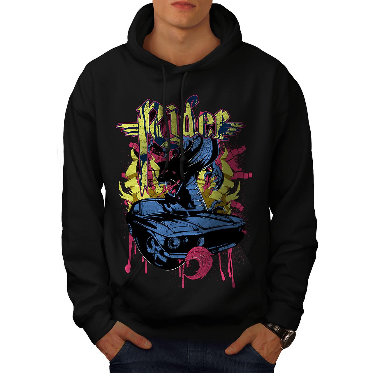 Rider Blood Sport Car Men Black Hoodie | Wellcoda