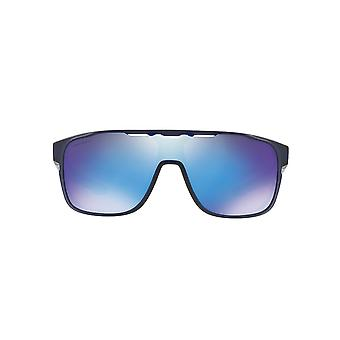 Oakley Crossrange Shield Sunglasses In Matte Translucent Blue Sapphire Prizm