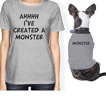 Created A Monster Small Pet Owner Matching Gift Outfits Grey Gifts