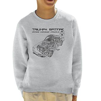 Haynes Owners Workshop Manual 0113 Triumph Spitfire Black Kid's Sweatshirt