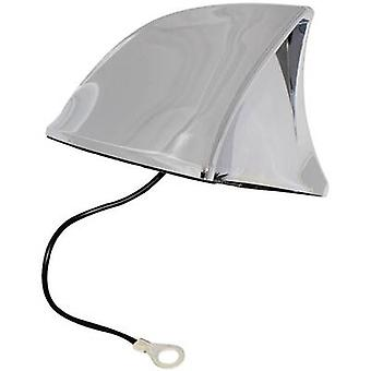 Plastic Car shark fin antenna Chrome (W x H x D) 115 x 75 x 65 mm